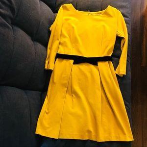 Anthropologie mustard yellow dress!